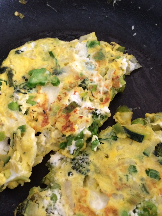 Cleaning the kitchen frittata