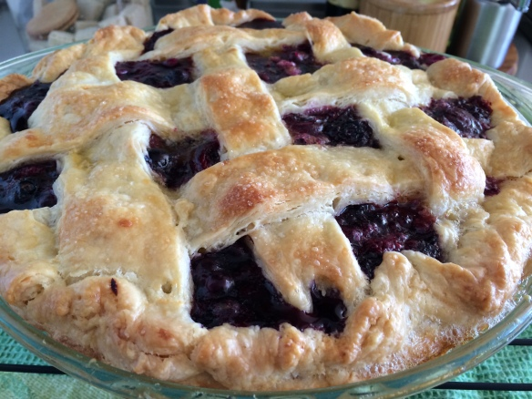 Cherry, Blueberry, Blackberry Pie